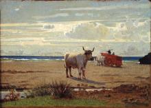 Giuseppe Abbati, Bove sulla spiaggia