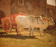 Giuseppe Abbati, Bovi al carro