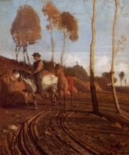 Giuseppe Abbati, Buttero a cavallo nella tenuta di Diego Martelli a Castiglioncello