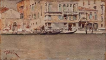Giuseppe Abbati, Canal Grande a Venezia