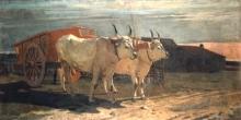 Giuseppe Abbati, Carro e bovi nella Maremma toscana