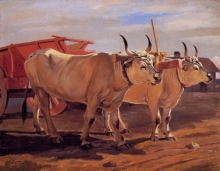 Giuseppe Abbati, Carro rosso con bovi
