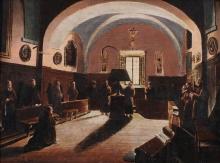 Giuseppe Abbati, Frati in convento