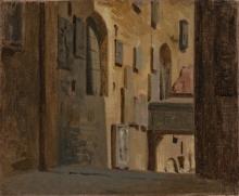 Giuseppe Abbati, Il cortile del Bargello