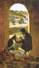 Giuseppe Abbati, Il pittore Stanislao Pointeau
