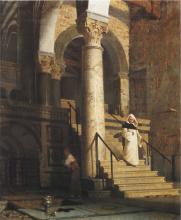 Giuseppe Abbati, Interno della chiesa di San Miniato al Monte a Firenze