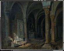 Giuseppe Abbati, Interno della chiesa di San Miniato al Monte