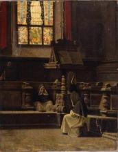 Abbati, Interno di sagrestia con monaci.jpg