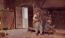 Giuseppe Abbati, Interno di una casa di boscaioli