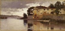 Giuseppe Abbati, L'Arno alla Casaccia