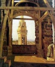 Giuseppe Abbati, La torre del palazzo del Podestà