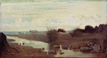 Giuseppe Abbati, Lido con bovi al pascolo
