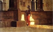 Giuseppe Abbati, Loggiato con armigero (Bargello)