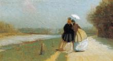 Giuseppe Abbati, Lungo l'Arno alle Cascine