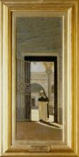 Giuseppe Abbati, Nel chiostro / Monaco