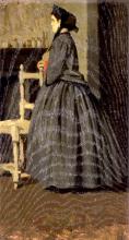 Giuseppe Abbati, Ritratto di signora in grigio