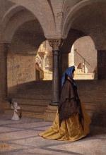 Giuseppe Abbati, Signora nella cripta di San Miniato