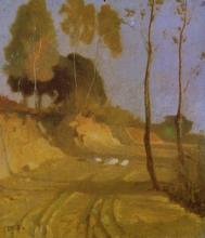Giuseppe Abbati, Strada campestre
