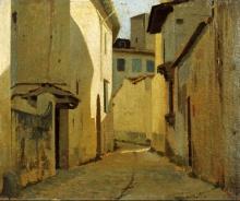 Giuseppe Abbati, Veduta di una strada di campagna