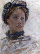 Acke, Donna in una leggera tempesta di neve | Kvinna i lätt snöyra | Woman in whirling snow