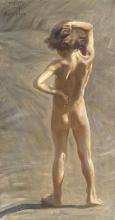 Acke, Fausto. Studio di un ragazzo nudo | Fausto. Aktstudie av liten gosse | Fausto. Study of a nude boy