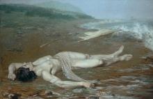 Acke, Il corpo di Leandro portato a riva dal mare   Leander's body washed ashore