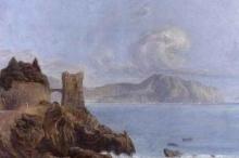 Acke, Paesaggio costiero italiano, baia di Lerici, Liguria | Motiv från italienska kusten, Lerichbukten, Legurien | Italian coastal landscape, Lerici bay, Liguria