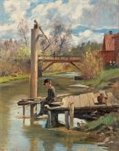 Acke, Ragazzo che pesca | Fiskande pojke | A fishing boy