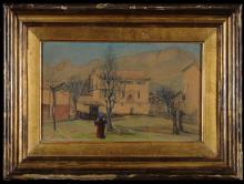 Silvio Allason, Paesaggio con figure
