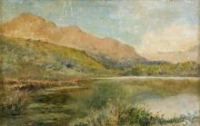 Paesaggio montano con lago