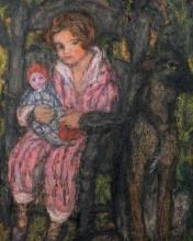 Aman-Jean, Bambina con la bambola | Fillette à la poupée