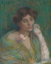 Aman-Jean, Donna con il garofano | Femme à l'œillet | Woman with carnation