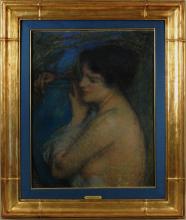 Aman-Jean, Donna con il vaso azzurro | Femme au vase bleu | Woman with blue vase