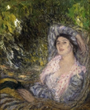 Aman-Jean, Donna in un giardino | Femme dans un jardin | Woman in a garden