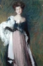 Aman-Jean, Giovane donna con la rosa | Jeune femme à la rose | Young woman with a rose