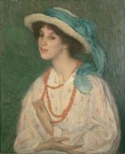 Aman-Jean, La donna con la collana di corallo | La femme au collier de corail | The woman with coral necklace