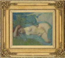 Aman-Jean, La donna sdraiata | La femme couchée | Woman resting