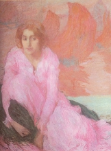 Aman-Jean, La signora in rosa   La dame en rose   Lady in pink