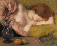 Aman-Jean, Le mele o Giovane donna addormentata | De appels of Slapende jonge vrouw | Les pommes ou Jeune femme endormie | The apples or Sleeping young woman