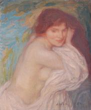 Aman-Jean, Nudo con drappeggio | Nu à la draperie | Nude with drapery