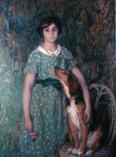 Aman-Jean, Ragazza con il cane | Jeune fille au chien | Young girl with dog