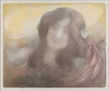 Aman-Jean, Ragazza dai capelli lunghi | Fille aux cheveux longs | Girl with long hair