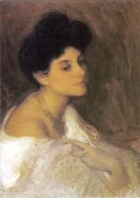 Aman-Jean, Ritratto della signora Josette Laurent   Portrait of Madame Josette Laurent   Portrait of Mrs. Josette Laurent