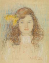 Aman-Jean, Ritratto della signorina Marguerite de Massary   Portrait de Mademoiselle Marguerite de Massary   Portrait of Miss Marguerite de Massary