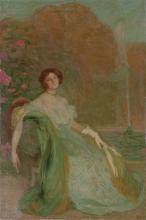 Aman-Jean, Ritratto della signorina V. G. | Portrait de Mademoiselle V. G. | Portrait of Miss V. G.