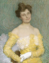 Aman-Jean, Ritratto di Jeanne Prinet   Portrait de Jeanne Prinet   Portrait of Jeanne Prinet