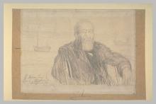 Aman-Jean, Ritratto di Jules Maciet a mezza figura di tre quarti a destra, con la barba   Portrait de Jules Maciet à mi-corps de trois quarts à droite, barbu   Portrait of Jules Maciet half-length, three quarters to the right, bearded