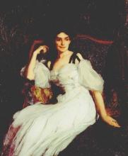 Edmond Aman-Jean, Ritratto di donna (La signora Ernest Chausson) | Portrait de femme (Madame Ernest Chausson) | Portrait of a woman (Mrs. Ernest Chausson)