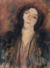 Aman-Jean, Ritratto di donna bruna | Portrait de femme brune | Portrait of a brunette woman