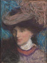 Aman-Jean, Ritratto di donna con il cappello | Portrait de femme au chapeau | Portrait of a woman with hat